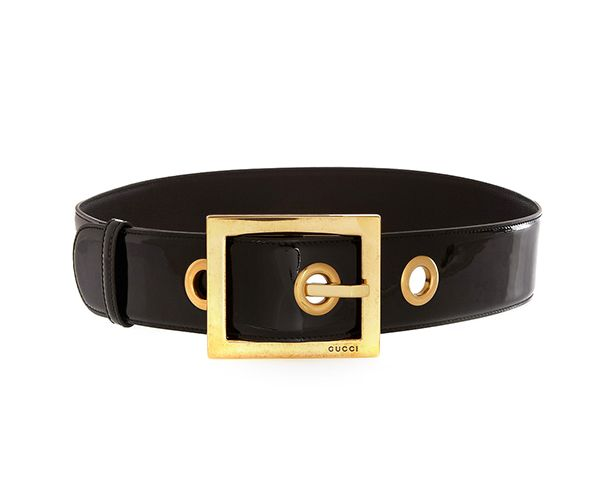 Gucci Patent-Leather Waist Belt