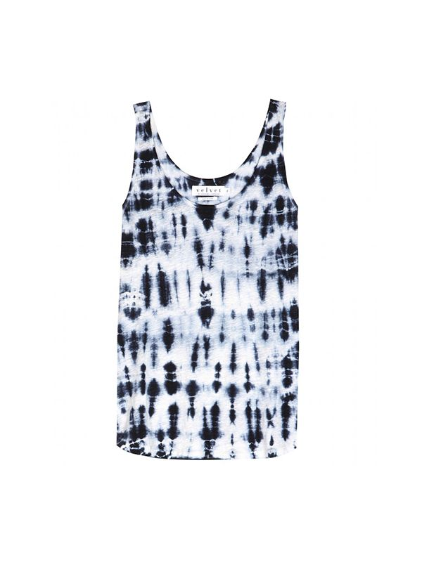 Velvet Sasha Tie-Dye Linen Tank Top