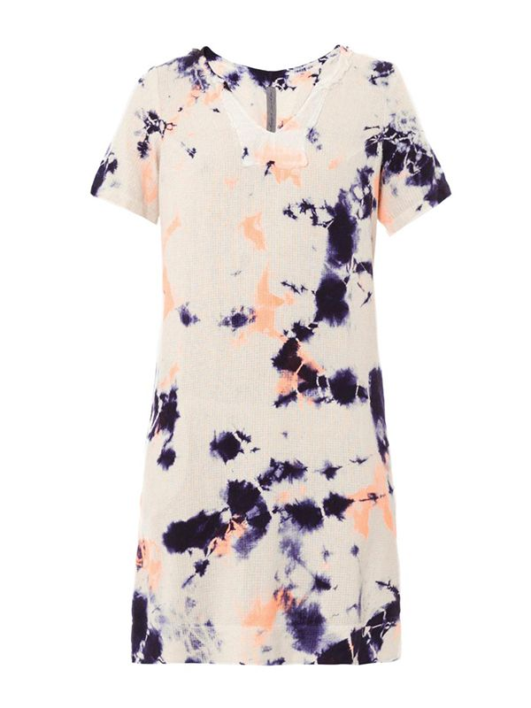 Raquel Allegra Cosmic Tie-Dye Silk Dress