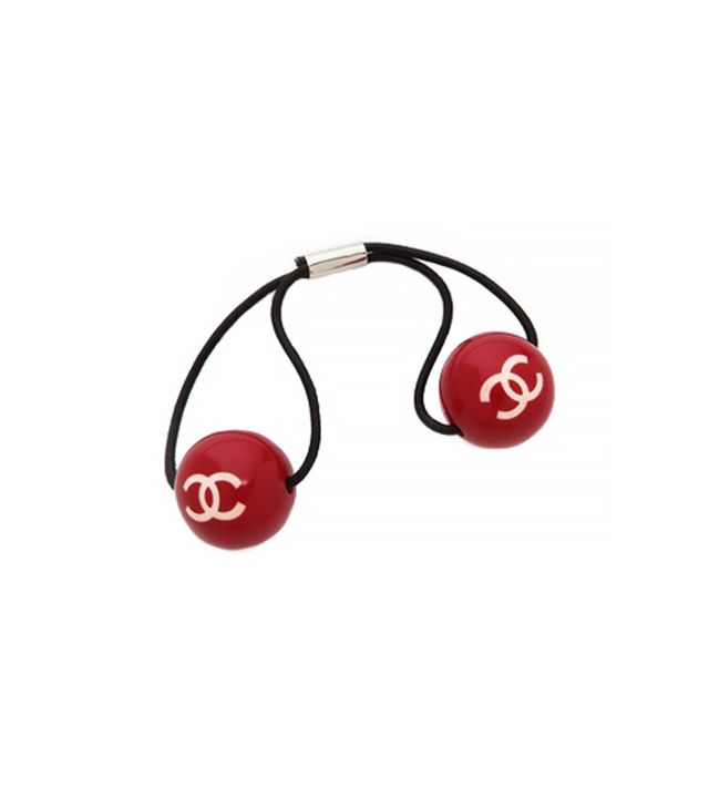 Vintage Chanel CC Ball Hair Tie