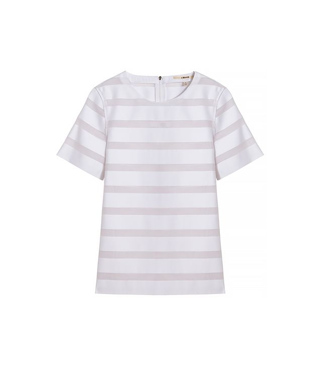 J Brand Earhart Sheer Stripe Blouse