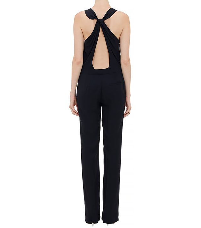 A.L.C. Twisted Drape-Back Sleeveless Jumpsuit