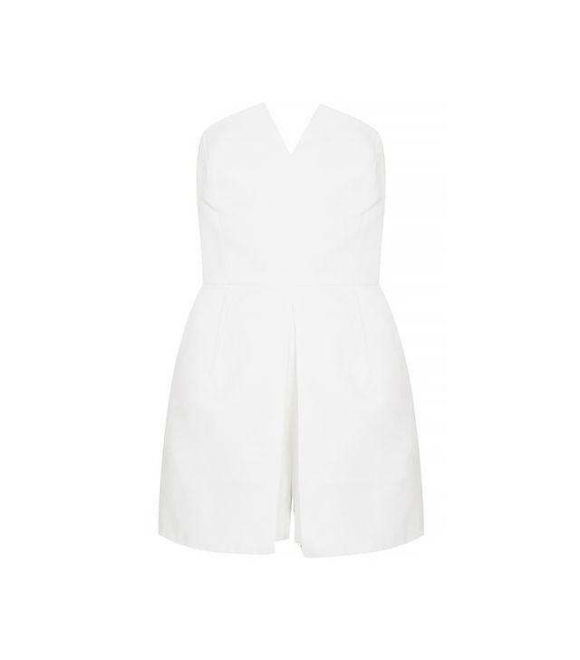 Topshop Notched Neck Romper