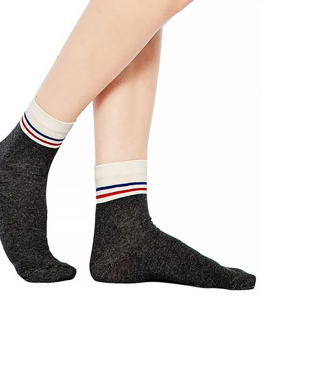 ASOS Multi-Stripe Top Ankle Socks