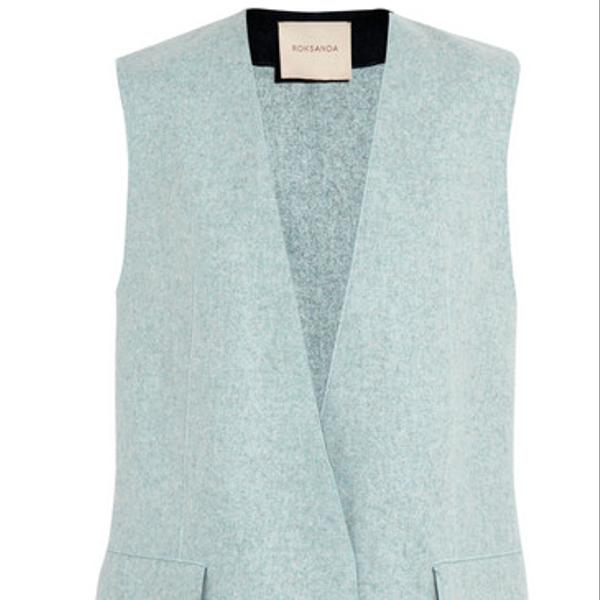 Roksanda Ilincic Cambray Wool-Felt Vest