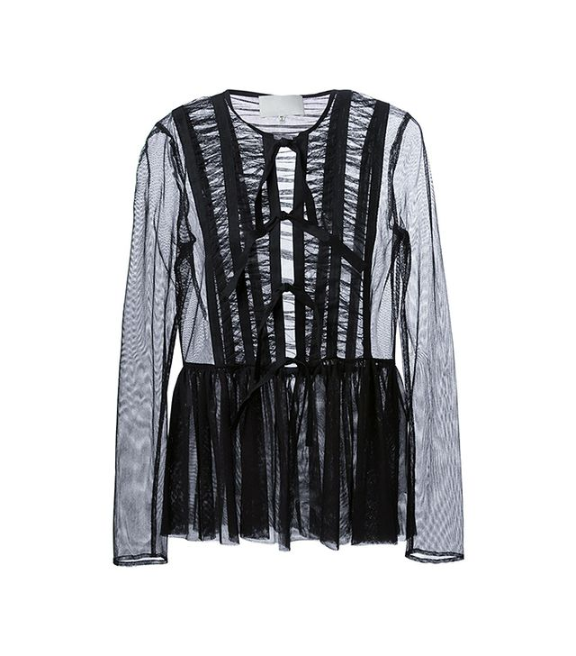 Maison Martin Margiela Pleated Sheer Blouse
