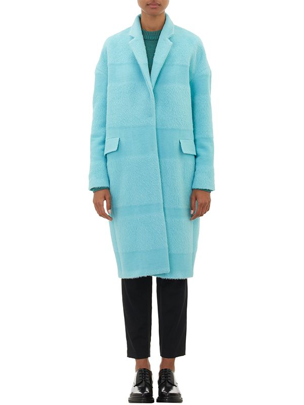 Barneys New York X Yasmin Sewell Textured-Stripe Oversized Coat