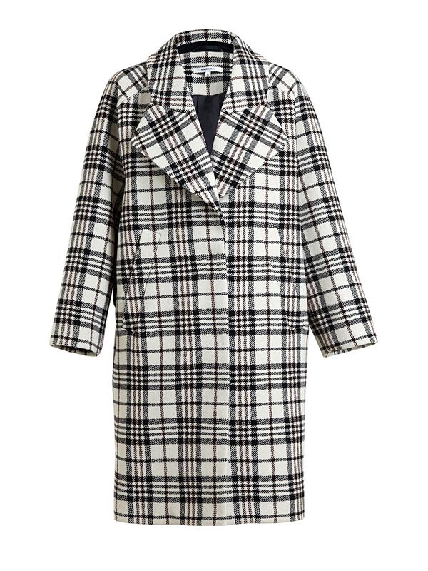 Carven Tartan Oversized Coat