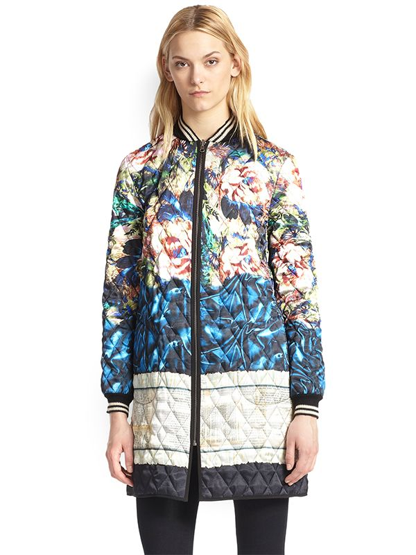 Clover Canyon James Joyce Printed Quilted Jacket