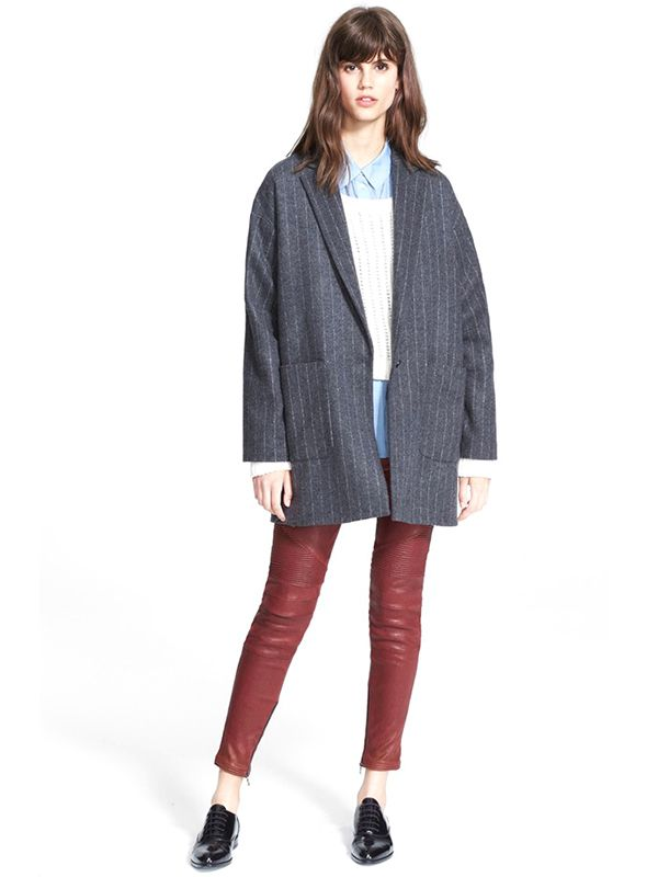 Elizabeth and James Carson Pinstripe Coat