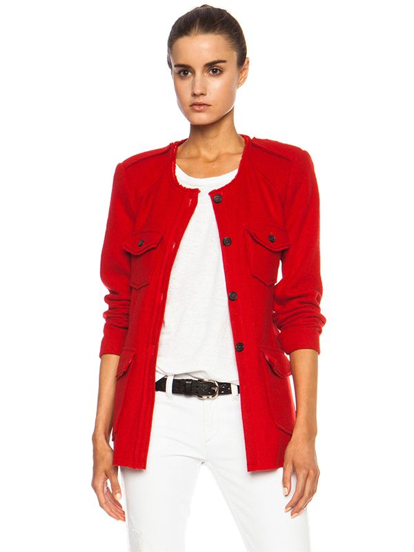 Isabel Marant Etoile Joff Heavy Wool-Blend Jacket