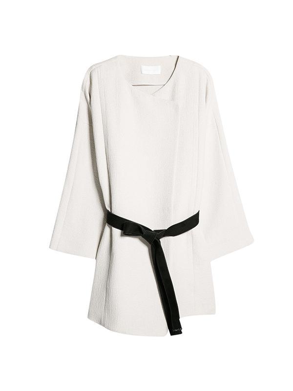 Mango Premium Contrast Belt Kimono