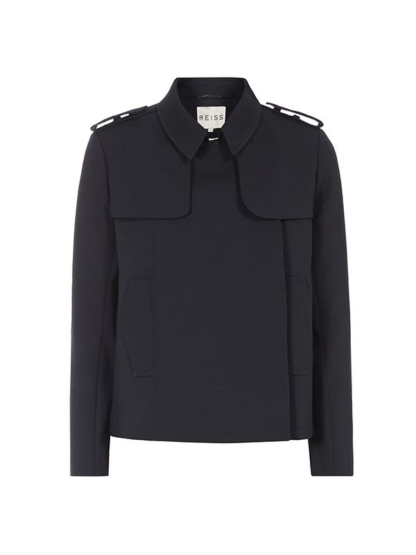 Reiss Caitlin Cropped Trench Jacket
