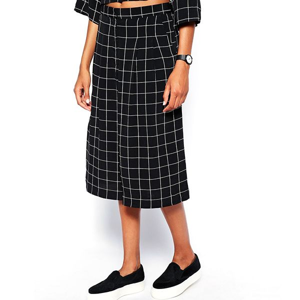 Monki Wide Leg Cropped Pant