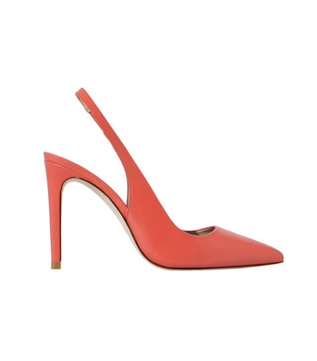 Zara Leather Sling Back Shoes