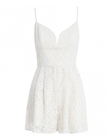 Zimmermann Backbeat Embroidered Playsuit