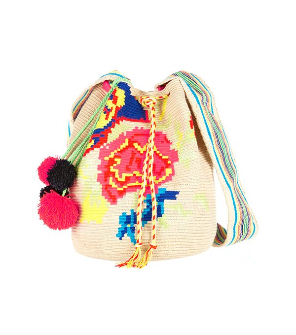 Sophie Anderson Nataly Crocheted Cotton Bucket Bag