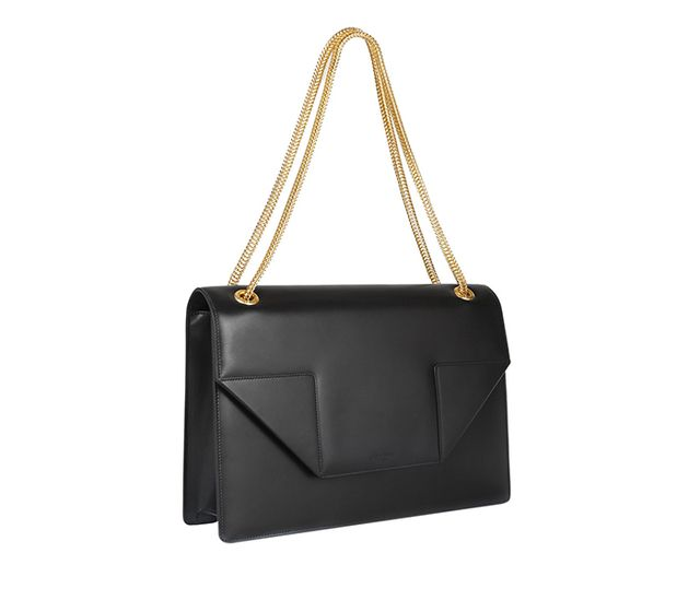 Saint Laurent Betty Jumbo Leather Shoulder Bag