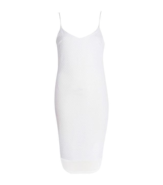 River Island White Chiffon Hem Slip Dress