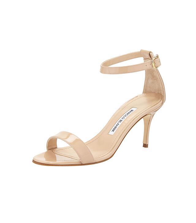 Manolo Blahnik Chaos Patent Leather Sandal