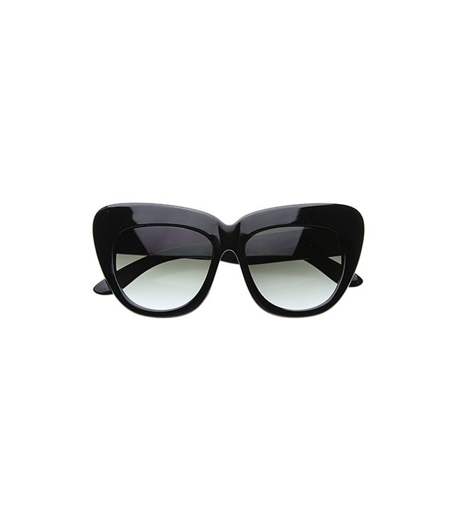 ZeroUV Designer Fashion Oversize Cat Eye Sunglasses