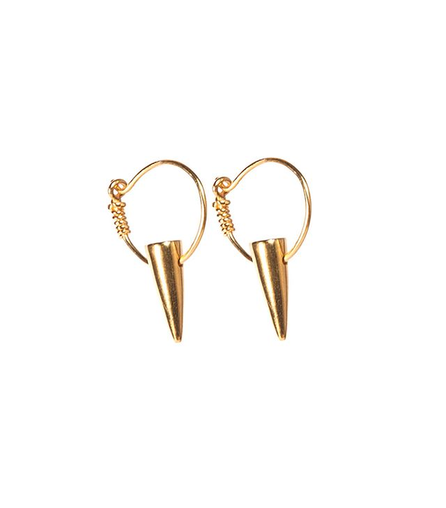 i+i Tusk Gold Hoop Earrings