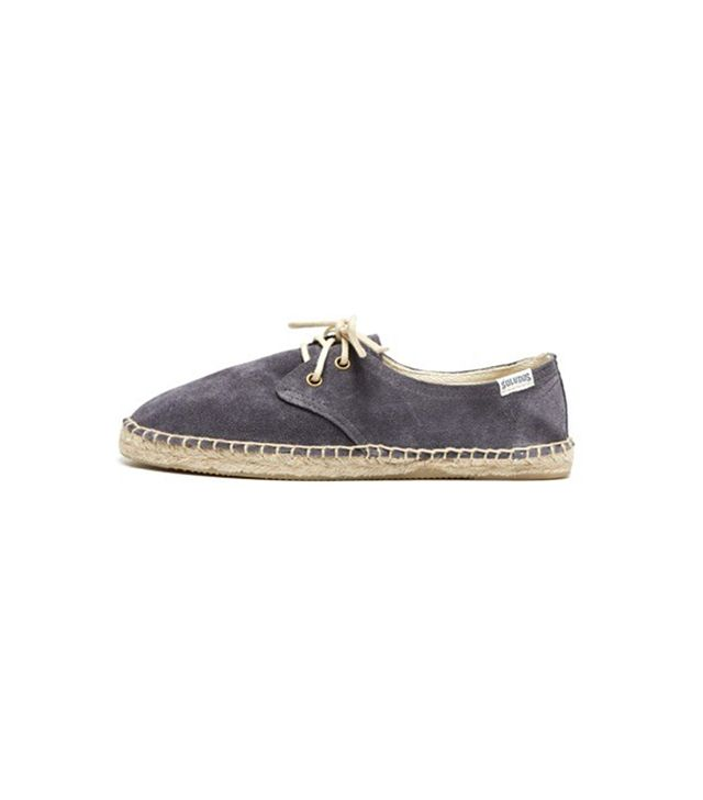 Soludos Suede Derby Lace Up Espadrilles