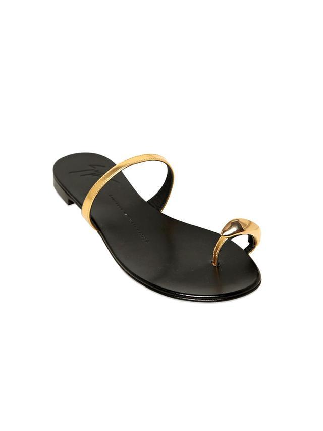 Giuseppe Zanotti 10mm Metallic Leather Sandals