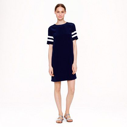 J. Crew Silk stripe-sleeve dress