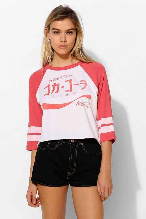 DOE International Coca-Cola Ringer 3/4 Sleeve Tee