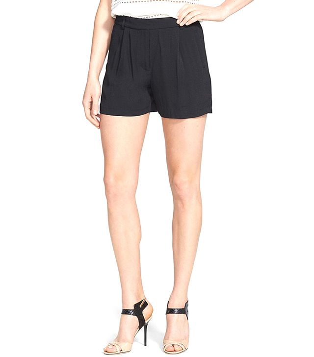 Chelsea28 Pleated Crepe Shorts