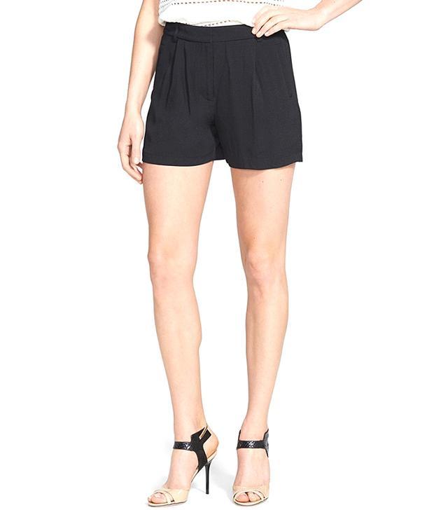 Chelsea28 Pleated Crepe Shorts
