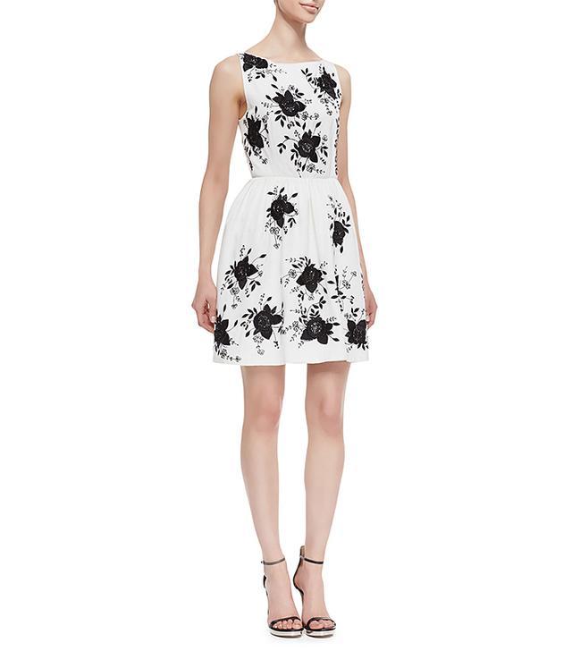 Alice + Olivia Lillyanne Embellished Cutout Dress