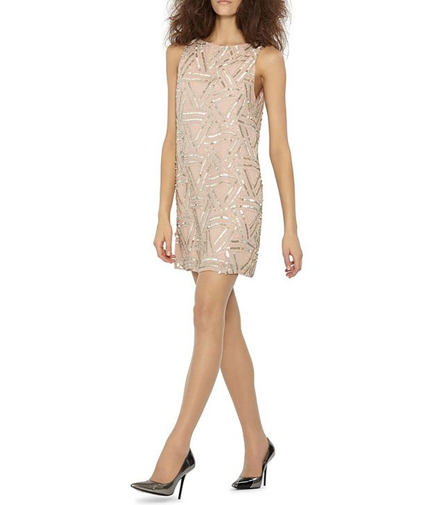 Alice + Olivia Elliotte Embellished Shift Dress