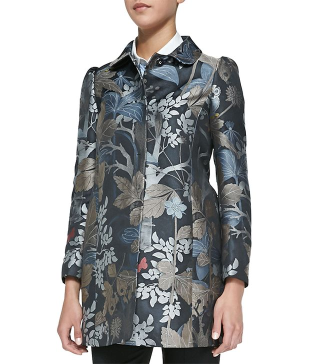 RED Valentino Wooded Forest Jacquard Topper Coat