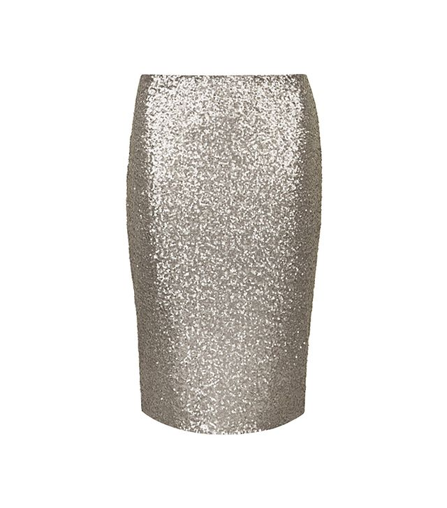 Dorothy Perkins Lola Skye Gunmetal Sequin Pencil Skirt
