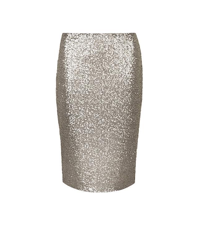Dorothy Perkins Lola Skye Gunmetal Sequin Pencil Skirt