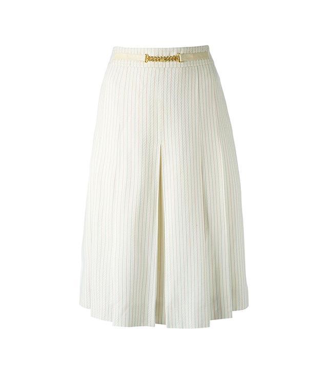 Céline Vintage 70s Pinstriped Skirt