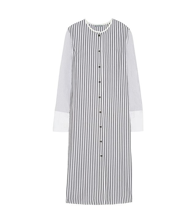 Maiyet Pinstripe Cotton-Poplin Shirt Dress