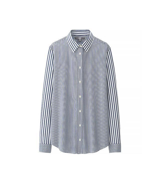 Uniqlo EFC Broadcloth Striped Long Sleeve Shirt