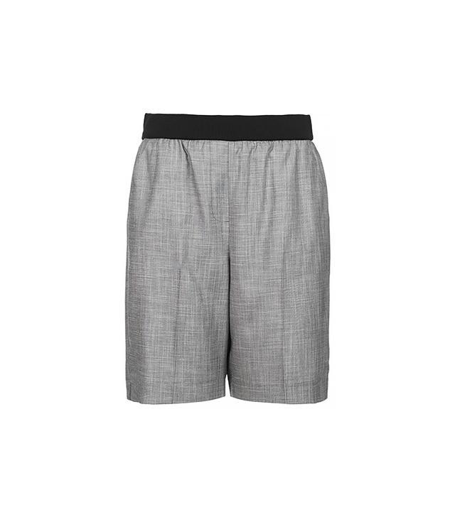 Topshop Rib Waist City Shorts