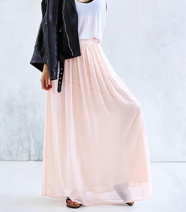 Pins And Needles Yoke Chiffon Maxi Skirt