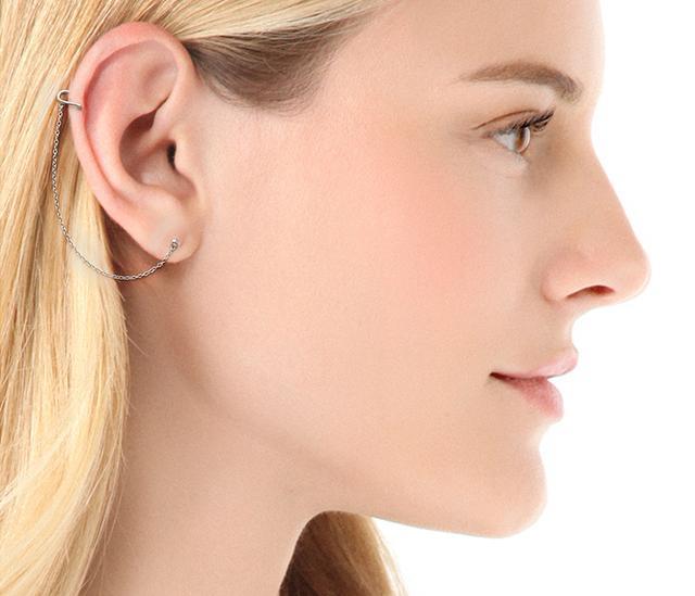 Jacquie Aiche JA Ear Cuff With Chain