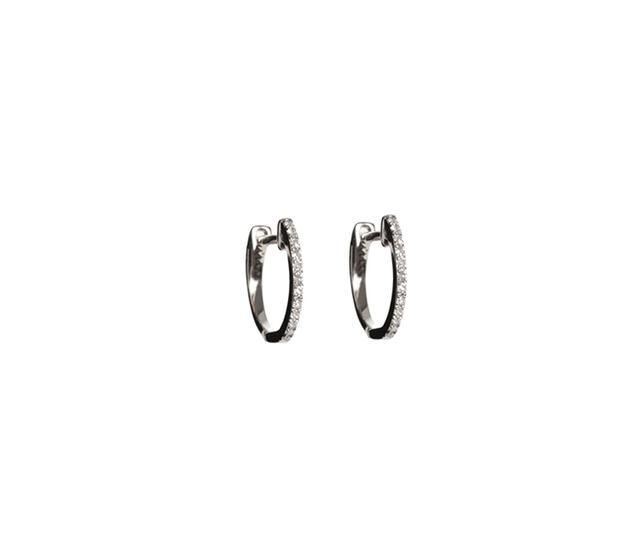 Liv Haley Diamond Huggie Earrings