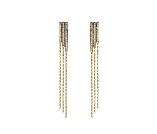 Monica Vinader Diamond Pave Skinny Earrings
