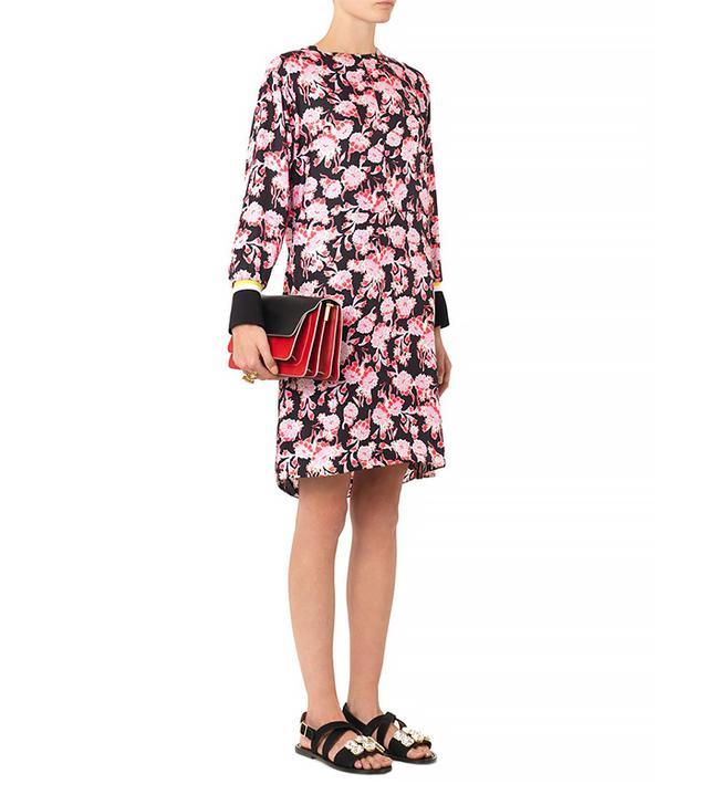 Marni Motion Flower-Print Silk Dress