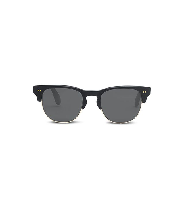 TOMS Lobamba Sunglasses in Matte Black and Champagne Crystal