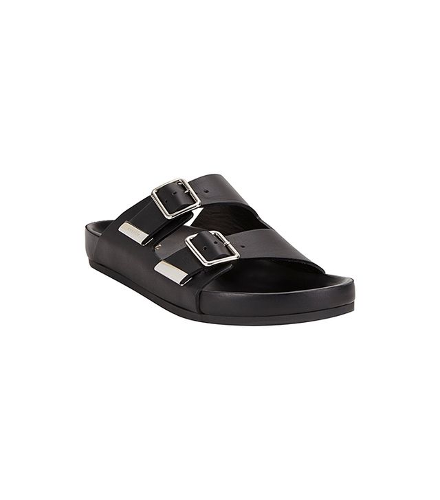 Givenchy Double-Strap Sandals in Black