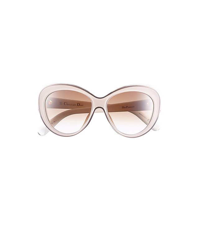 Dior 55mm Cat Eye Sunglasses in Transparent Pink/Ivory