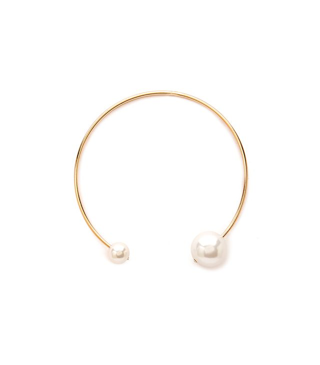 Forever 21 Faux Pearl Statement Choker